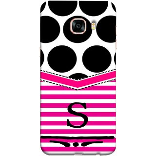 FUSON Designer Back Case Cover for Samsung Galaxy C5 SM-C5000 (Beautiful Cute Nice Couples Pink Design Paper Girly S)