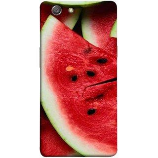FUSON Designer Back Case Cover for Oppo Neo 5 :: Oppo A31 :: Oppo Neo 5S 2015 (Watermelon Slice Pattern Of Ripe Dark Red Tasty Food)