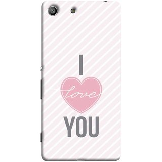 FUSON Designer Back Case Cover For Sony Xperia Z3 :: Sony Xperia Z3 Dual D6603 :: Sony Xperia Z3 D6633 (Just Pinky Say Always I Love You Red Hearts Couples)