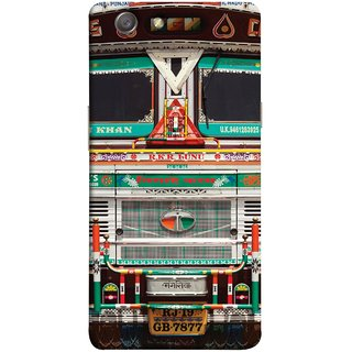 FUSON Designer Back Case Cover for Oppo Neo 5 :: Oppo A31 :: Oppo Neo 5S 2015 (India Goods Lorry Decorated Indian Tata Truck)