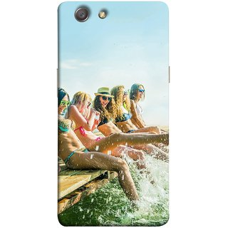 FUSON Designer Back Case Cover for Oppo Neo 5 :: Oppo A31 :: Oppo Neo 5S 2015 (Group Of Happy Young Woman Feet Splash Water In Sea)