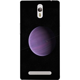 FUSON Designer Back Case Cover for Oppo Find 7 :: Oppo Find 7 QHD :: Oppo Find 7a :: Oppo Find 7 FullHD :: Oppo Find 7 FHD (Rings In Space Zoom Into Beautiful Planet And Stars)