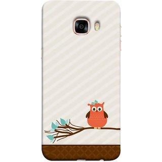 FUSON Designer Back Case Cover for Samsung Galaxy C5 SM-C5000 (Birds Sitting Alone Waiting For Partner Leaves Leaf)