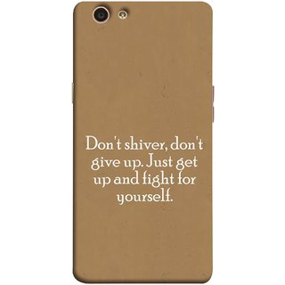 FUSON Designer Back Case Cover for Oppo F1s (Yourself Motivational Inspirational Saying Quotes)