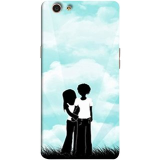 FUSON Designer Back Case Cover for Oppo F1s (Boyfriend Girlfriend Together Always Evening Life)