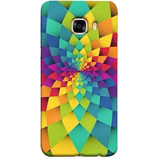 FUSON Designer Back Case Cover for Samsung Galaxy C5 SM-C5000 (Polygonal Background Colorful Abstract Geometric Best)
