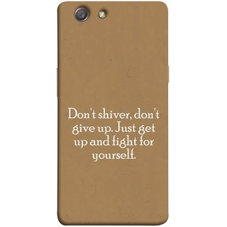 FUSON Designer Back Case Cover for Oppo Neo 5 :: Oppo A31 :: Oppo Neo 5S 2015 (Yourself Motivational Inspirational Saying Quotes)