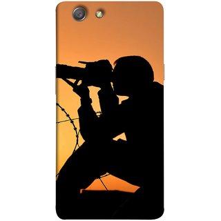 FUSON Designer Back Case Cover for Oppo Neo 5 :: Oppo A31 :: Oppo Neo 5S 2015 (Life Through A Lens Sunset Silhouette Camera Lens)