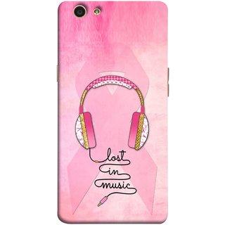 FUSON Designer Back Case Cover for Oppo F1s (Valentine Pink Metallic Amazing In Concert Events )