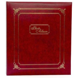Sweet Moments Leather Design Maroon Color Stylish Photo Album Size 5 inch-7 inch-100 Photo Pockets (mc2114)