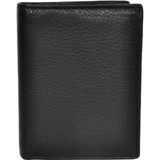 Chandair Pure Leather Black Mens Wallet (W-7004)
