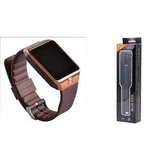 Clairbell DZ09 Smart Watch and Selfie Stick for MICROMAX BOLT D303(DZ09 Smart Watch With 4G Sim Card, Memory Card| Selfie Stick)