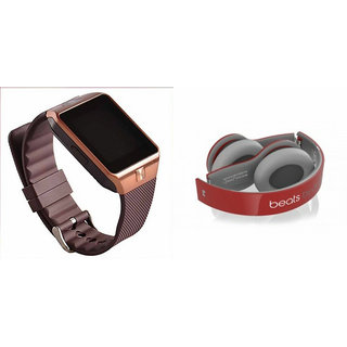 Clairbell DZ09 Smart Watch and S450 Bluetooth Headphonefor LENOVO vibe p1m(DZ09 Smart Watch With 4G Sim Card, Memory Card| S450 Bluetooth Headphone)