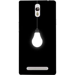 FUSON Designer Back Case Cover for Oppo Find 7 :: Oppo Find 7 QHD :: Oppo Find 7a :: Oppo Find 7 FullHD :: Oppo Find 7 FHD (Hanging Light Bulb In Dark Room Ceiling Darkness )