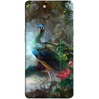 FUSON Designer Back Case Cover for Oppo Neo 5 :: Oppo A31 :: Oppo Neo 5S 2015 (Nice Colourful Long Pair His Mate Peacock Feathers Beak)
