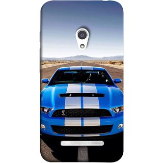 FUSON Designer Back Case Cover For Asus Zenfone 5 A501CG ( Road Shelby Mustang Engine Shelby Beautiful Blue)