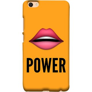 FUSON Designer Back Case Cover For VIVO Y66 (Power Of Kiss Words Red Lips Pinky Flying Kisses Girl Lovers )