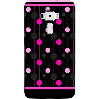 FUSON Designer Back Case Cover For Asus Zenfone 3 ZE520KL (5.2 Inches) (Lines Of Pink Blurred Balls Falling Against A Black Background)