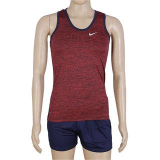 RetailWorld Atheletic Wear Kit Red/Blue (Sando + Shorts)