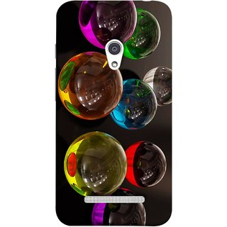 FUSON Designer Back Case Cover For Asus Zenfone 5 A501CG (Floral Pattern Free Fluorescent Colorful Bubbles)