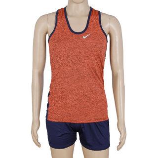RetailWorld Atheletic Wear Kit Orange/Blue (Sando + Shorts)