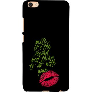 FUSON Designer Back Case Cover For VIVO Y66 (To Do With Your Lips Kisses Kiss Lovers Couples)