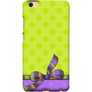 FUSON Designer Back Case Cover For VIVO Y66 (Pista Green Colour Gift Wrap Packing Wallpaper)