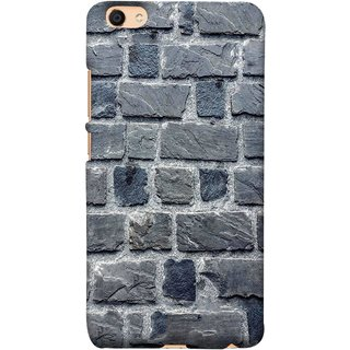 FUSON Designer Back Case Cover For VIVO Y66 (Irregular Shapes Cement Ancient Different Sizes Wall)