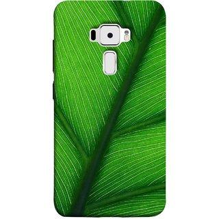 FUSON Designer Back Case Cover For Asus Zenfone 3 ZE520KL (5.2 Inches) (Bright Green Leaf Of Tree Full Of Life Network Of Veins)