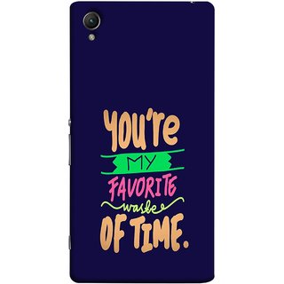 FUSON Designer Back Case Cover For Sony Xperia Z5 Premium :: Sony Xperia Z5 4K Premium Dual (Blue Background Best Friends Always Together)