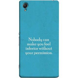 FUSON Designer Back Case Cover For Sony Xperia Z5 Premium :: Sony Xperia Z5 4K Premium Dual (Permission Motivational Inspirational Saying Quotes)