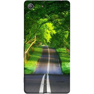FUSON Designer Back Case Cover For Sony Xperia Z3 :: Sony Xperia Z3 Dual D6603 :: Sony Xperia Z3 D6633 (Road Surrounded By Mountains Beautiful Old Trees )