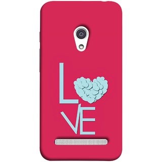 FUSON Designer Back Case Cover For Asus Zenfone 6 A600CG (Best Gift For Valentine Friends Lovers Couples Baby Pink Red )