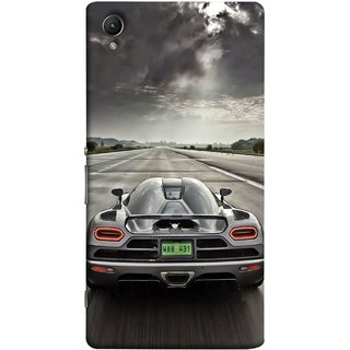 FUSON Designer Back Case Cover For Sony Xperia Z5 Premium :: Sony Xperia Z5 4K Premium Dual (Trees Silver Sports Car Led American Muscle Cars)