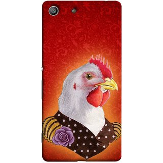 FUSON Designer Back Case Cover For Sony Xperia Z3 :: Sony Xperia Z3 Dual D6603 :: Sony Xperia Z3 D6633 (Young Chicken Portrait Funny Acting Isolated Illustration)
