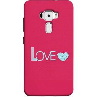 FUSON Designer Back Case Cover For Asus Zenfone 3 ZE520KL (5.2 Inches) (Best Gift For Valentine Friends Lovers Couples Baby Pink Red )