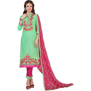 DnVeens Women Pure Cotton Embroidered Unstiched Suit Salwar Kameez Dress Material With Dupatta BLMDMST45009
