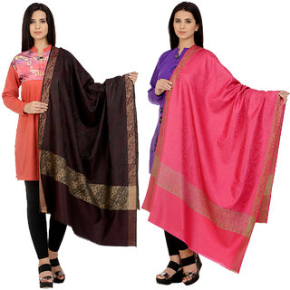 Christys Collection Womens Multicolor Shawls Pack of 2