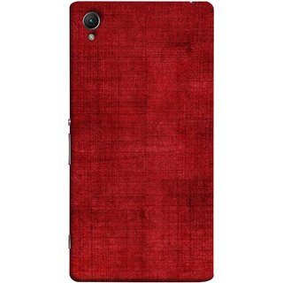 FUSON Designer Back Case Cover For Sony Xperia Z5 Premium :: Sony Xperia Z5 4K Premium Dual (Cloth Design Dark Red Maroon Paper Sheet Bloody)