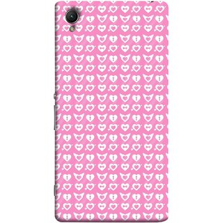 FUSON Designer Back Case Cover For Sony Xperia Z5 Premium :: Sony Xperia Z5 4K Premium Dual (Valentine Pink Metallic Cool Peace Sign Symbol Pillow)