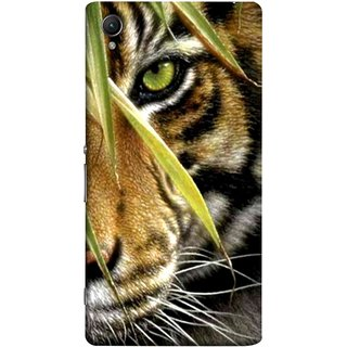 FUSON Designer Back Case Cover For Sony Xperia Z5 Premium :: Sony Xperia Z5 4K Premium Dual (Animal Bengal Indian Jungle King Whiskers Grass)