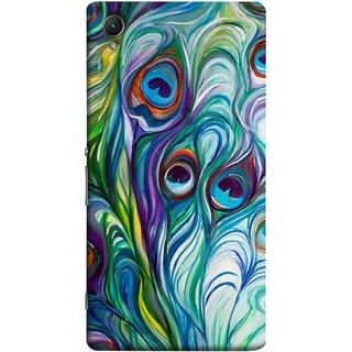 FUSON Designer Back Case Cover For Sony Xperia Z5 Premium :: Sony Xperia Z5 4K Premium Dual (Colourful Psychee Vibrant Colors Modern Art Silk Paintings )