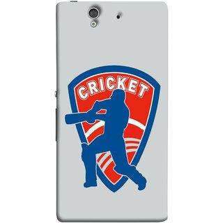 FUSON Designer Back Case Cover For Sony Xperia Z :: Sony Xperia ZC6603 :: Sony Xperia Z L36h C6602 :: Sony Xperia Z LTE, Sony Xperia Z HSPA+ (County Cricket India Aus England Bat Ball Batsman)