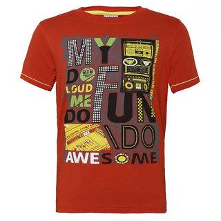 b597577b Buy Punkster 100 Cotton Orange Round Neck Tshirt For Boys-TS3485A-6 Online  - Get 40% Off