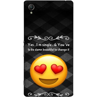 FUSON Designer Back Case Cover For Sony Xperia Z5 Premium :: Sony Xperia Z5 4K Premium Dual (Damn Beautiful To Change It Hearts Love Pure Smiley)