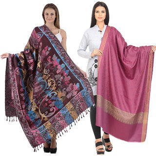 Christy's Collection Women's Multicolor Shawls Pack of 2