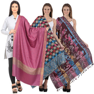 Christy's Collection Women's Multicolor Shawls Pack of 3