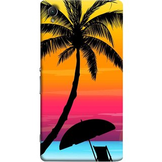 FUSON Designer Back Case Cover For Sony Xperia Z4 Compact :: Sony Xperia Z4 Mini (Colorful Island Sunset Painting Canvas Wallpapers )