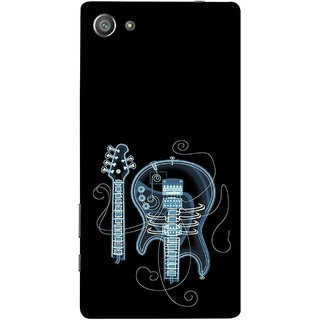 FUSON Designer Back Case Cover For Sony Xperia Z5 Compact :: Sony Xperia Z5 Mini (Musical Instrument Vintage Bass Music Lovers Play)