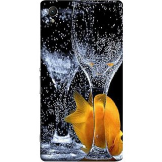 FUSON Designer Back Case Cover For Sony Xperia Z4 Compact :: Sony Xperia Z4 Mini (3D Water Splash Illustration Fuzzy Bubbles Unique)